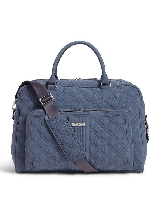Vera Bradley Quilted Weekender Travel Bag In Blue Lyst