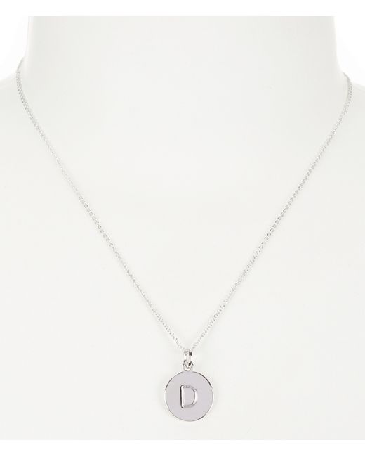 Kate Spade | Metallic Initial Pendant Necklace | Lyst