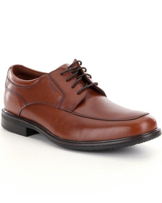 Rockport | Brown Men ́s Essential Details Ii Waterproof Apron-toe Dress Shoes for Men | Lyst