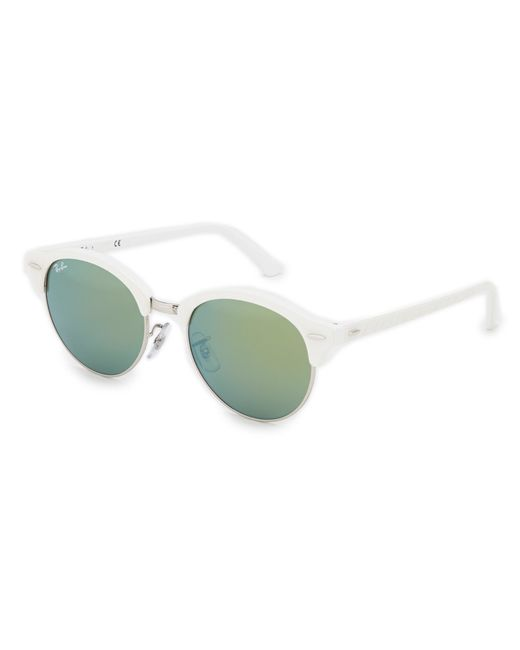 Ray Ban Clubround Gradient Flash Mirror Sunglasses In