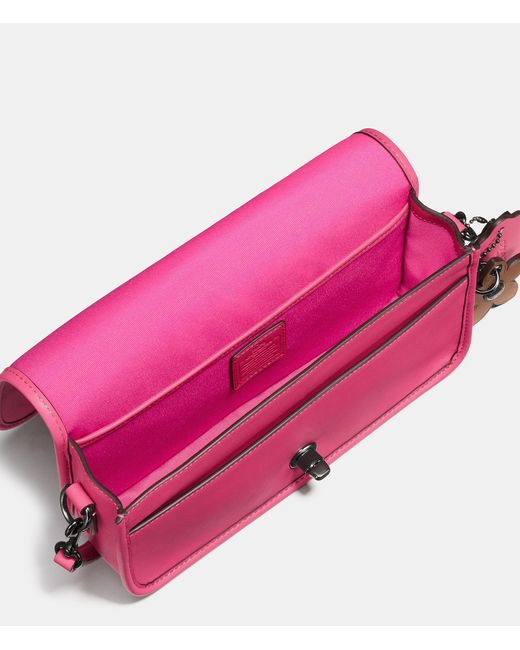 Coach Turnlock Crossbody In Glovetanned Leather in Pink ...