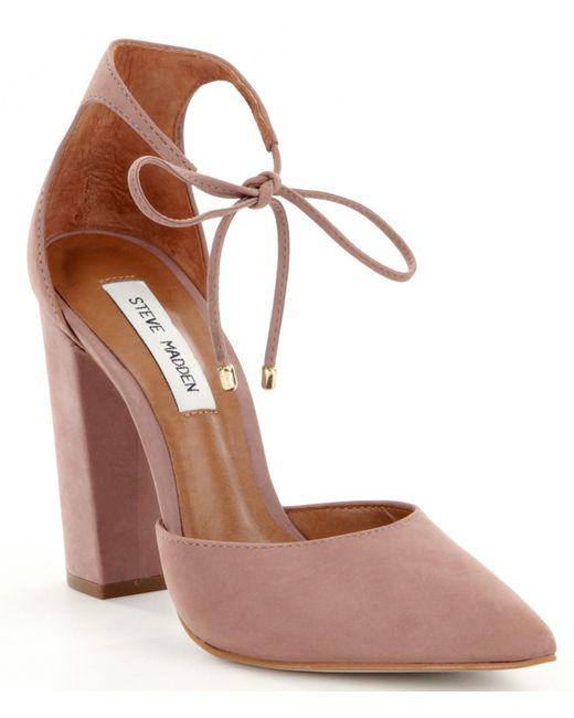 Pink Block Heel Shoes