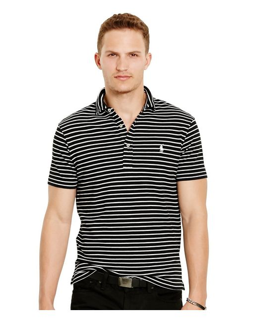 Polo Ralph Lauren | Black Big And Tall Classic-fit Long-sleeved Mesh Polo Shirt for Men | Lyst