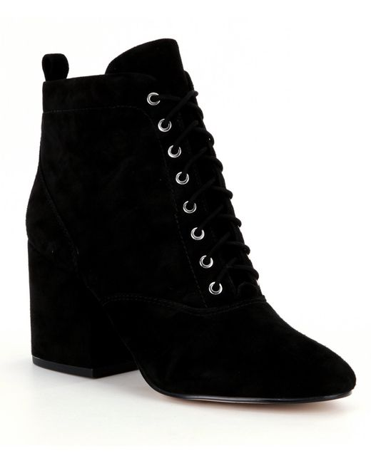 sam edelman tate suede ankle boots in black save 66 lyst