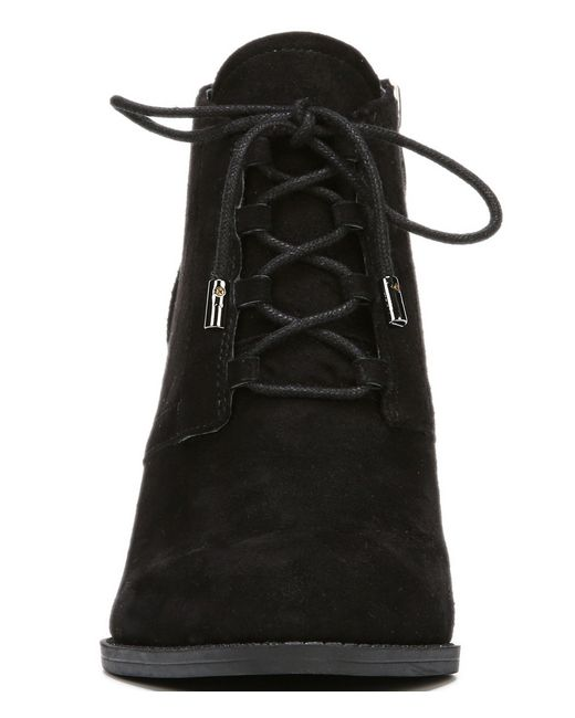franco sarto lennon suede wedge boots in black save 51