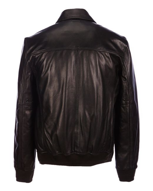 Marc new york carmine ii genuine leather faux fur collar for What is faux leather to real leather
