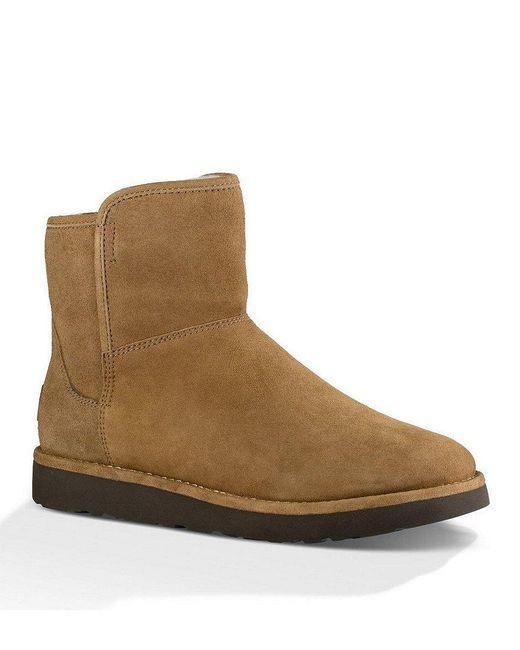 Ugg | Brown ® Abree Mini Suede Slip-on Booties | Lyst