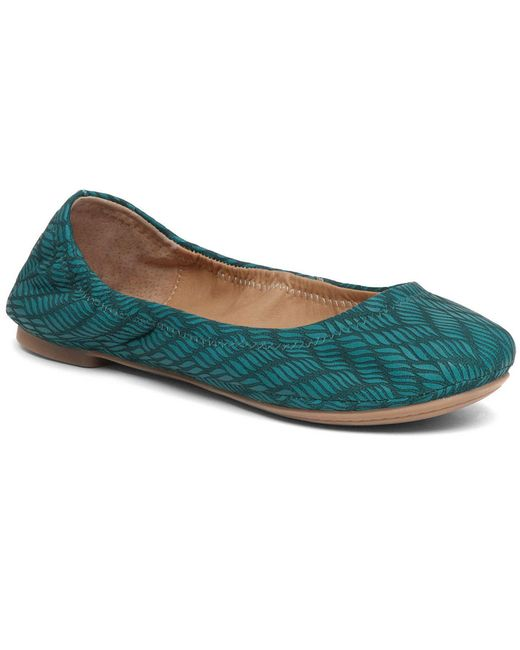 Lucky Brand   Blue Emmie Leather Ballet Flats   Lyst