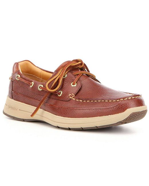 Sperry Top-Sider | Brown Men ́s Gold Cup Leather Hand-sewn Slip On Ultralite Boat Shoe for Men | Lyst