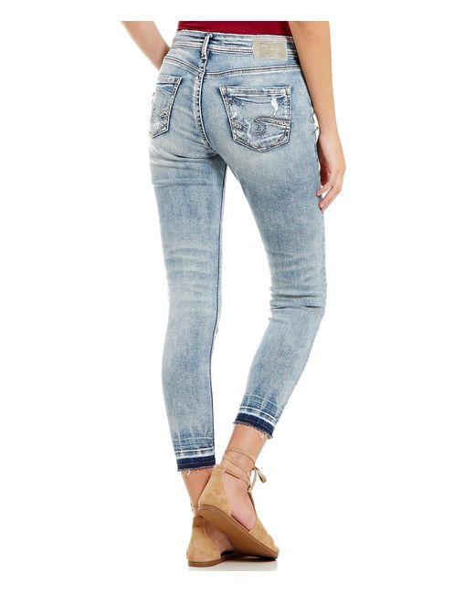 Silver Jeans Co Avery Release Hem Super Stretch High Rise