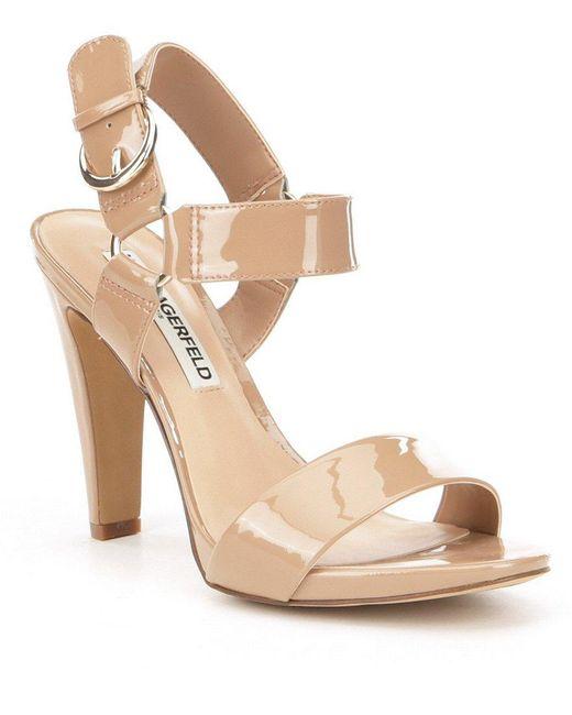 Karl Lagerfeld   Black Cieone Ankle Strap Dress Sandals   Lyst