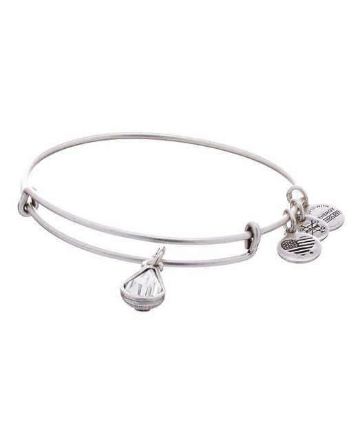 ALEX AND ANI | Metallic Birth Month Charm Bangle Bracelet With Swarovski® Crystal | Lyst