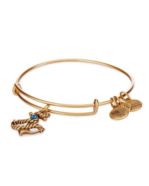 ALEX AND ANI | Metallic Anchor Charm Bangle Bracelet | Lyst