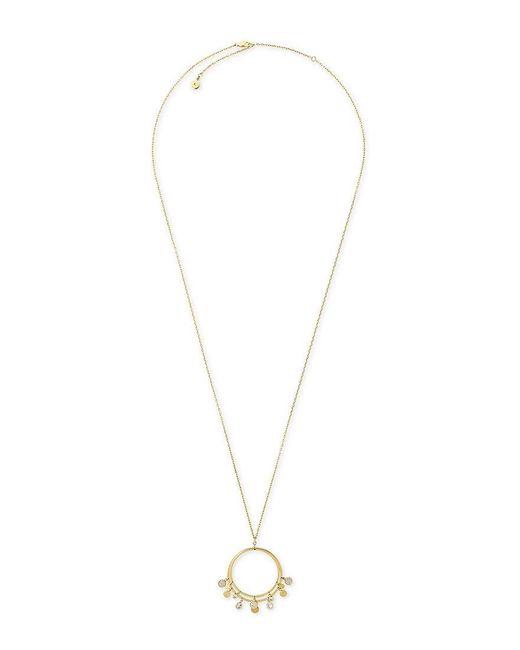 Michael Kors | Metallic Pavé Disc Pendant Necklace | Lyst