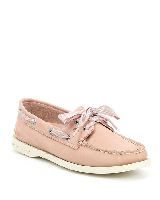 Sperry Top-Sider - Pink Authentic Original Satin Lace Boat Shoes for Men - Lyst