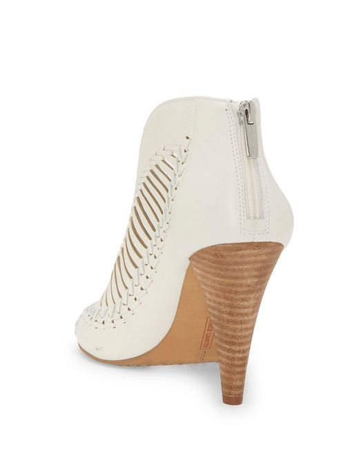 a51840eeae42 ... Vince Camuto - White Acha Nubuck Leather Shooties - Lyst ...