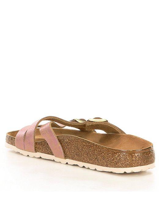 f28928862d7 ... Lyst Birkenstock - Multicolor Women s Yao Washed Metallic Slide Sandals  ...