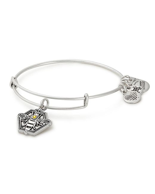 ALEX AND ANI - Metallic Queen Bee Habitat For Humanity Charm Bangle Bracelet - Lyst
