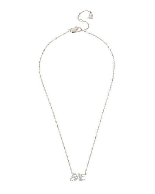 Betsey Johnson | Metallic Blue By Cubic Zirconia Bae Pendant Necklace | Lyst
