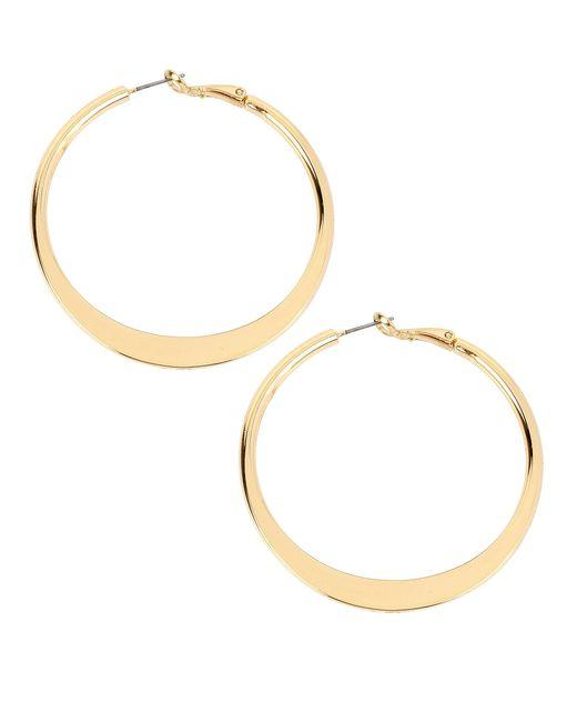 Kenneth Cole - Metallic Sculptural Hoop Earrings - Lyst