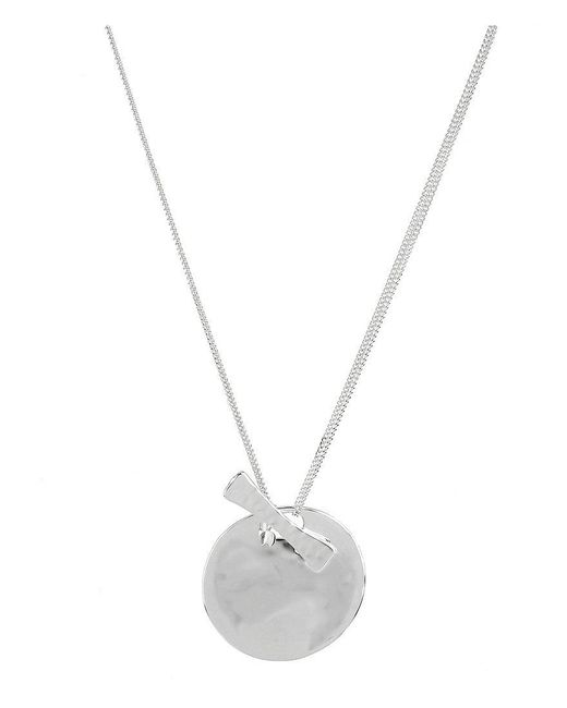Robert Lee Morris - Metallic Sculptural Circle Pendant Necklace - Lyst
