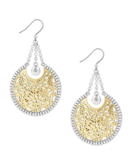 Lucky Brand - Metallic S Openwork Circle Statement Earrings - Lyst