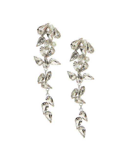 Belle By Badgley Mischka - Metallic Faux-crystal Cascade Earrings - Lyst