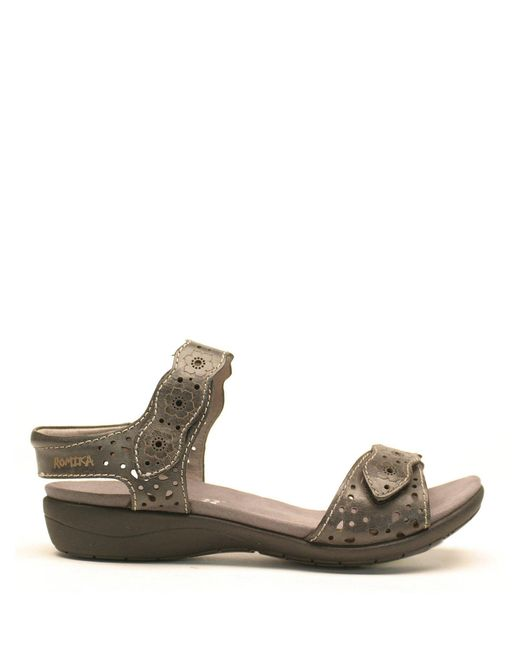 Romika - Gray Tahiti 03 Banded Cutout Leather Sandals - Lyst