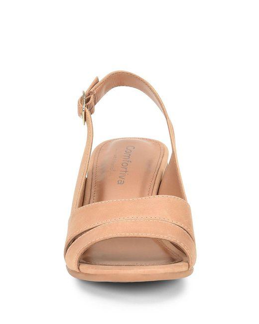 28d303d0831 ... Comfortiva - Multicolor Alonna Leather Block Heel Sandals - Lyst