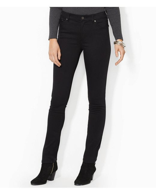67d7bc599bc34 Lauren by Ralph Lauren - Black Lauren Jeans Co. Super-stretch Slimming  Heritage Straight ...