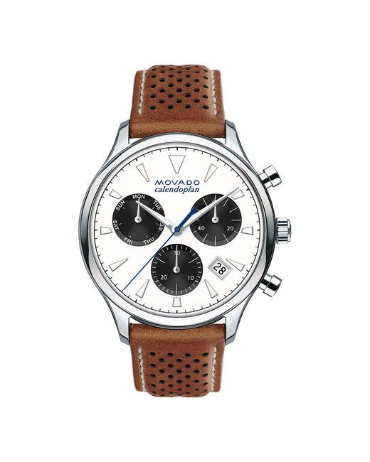 Movado Brown Heritage Calendoplan Chronograph for men
