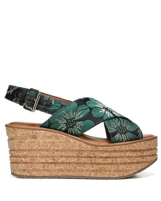 Sarto by Franco Sarto Caroline 2 Floral Brocade Slingback Platform Wedge Sandals GcfYTY
