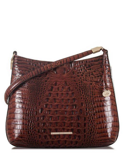 Brahmin - Brown Melbourne Collection Farrah Crocodile-embossed Hobo Bag - Lyst