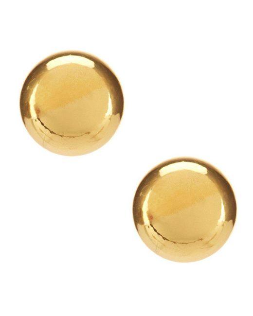Lauren by Ralph Lauren | Metallic Goldtone Ball Stud Earrings | Lyst