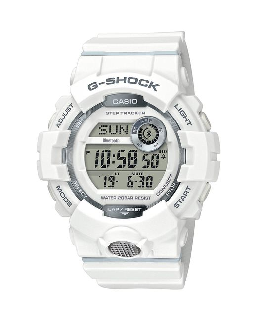 9f379f589a96 Lyst - G-Shock Digital Black   Red Shock Resistant Watch in White ...