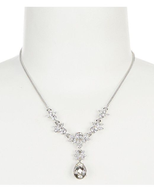 Givenchy | Metallic Cubic Zirconia Y-necklace | Lyst
