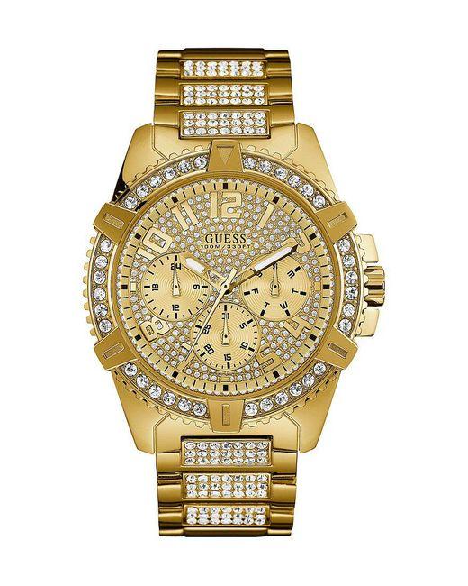 Guess - Metallic Multifunction Bracelet Watch - Lyst