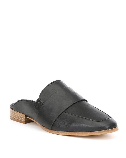 Free People | At Ease Metallic Leather Dress Mules | Lyst