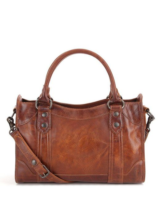Frye - Brown Melissa Washed Leather Satchel - Lyst