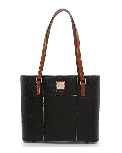 Dooney & Bourke - Black Ostrich Collection Small Lexington Colorblock Tote - Lyst
