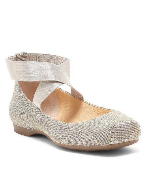 Jessica Simpson | Metallic Mandalaye Strappy Square-toe Ballet Flats | Lyst