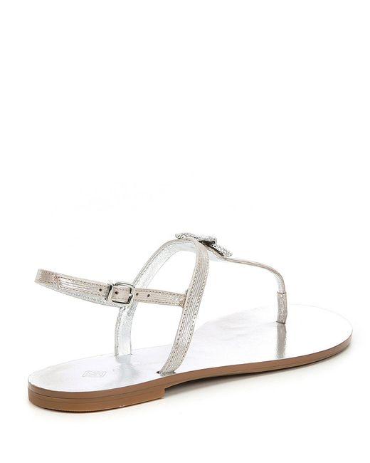 8cf583f47c15 Lyst - Antonio Melani Sureen Metallic Starfish Flat Sandals in Metallic