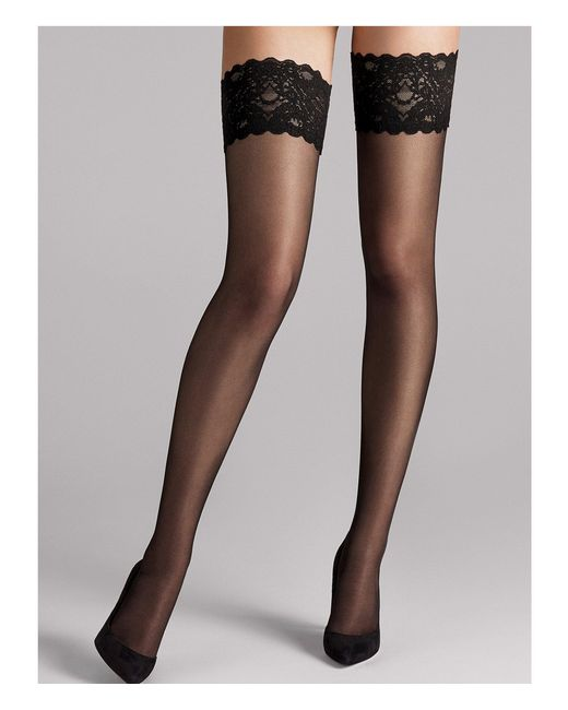 Wolford - Black Satin Touch 20 Stay-up - Lyst