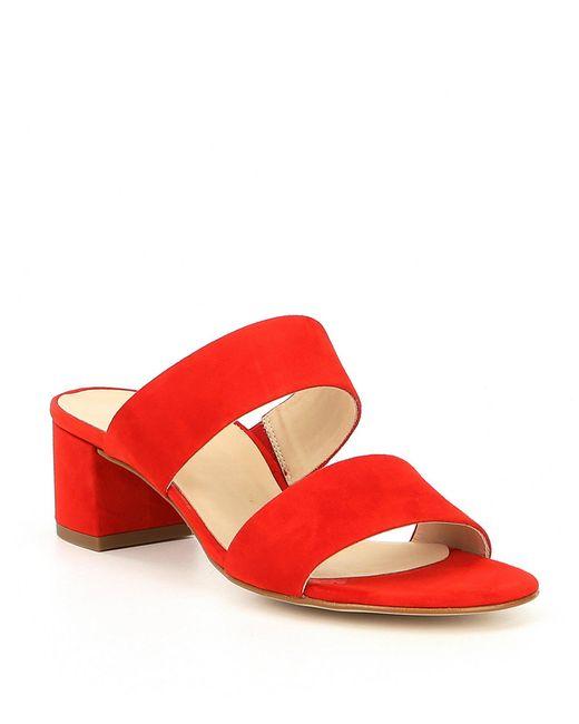 Paul Green - Red Meg Suede Block Heel Sandals - Lyst
