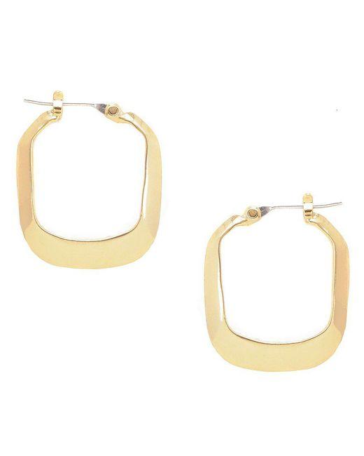 Kenneth Cole | Metallic Rectangle Hoop Earrings | Lyst