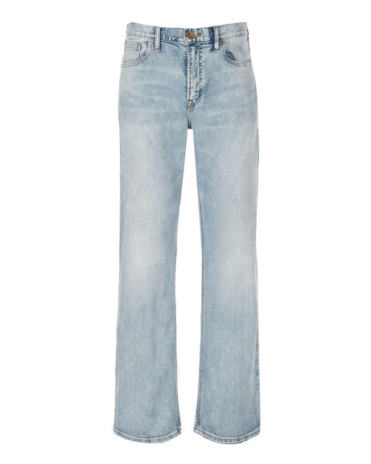 Silver Jeans Co. - Blue Craig Stretch Easy Fit Bootcut Light Wash Jeans for Men - Lyst