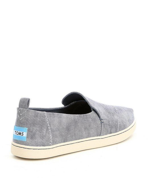 TOMS Women's Washed Twill Deconstructed Slip-Ons ZM3UfPM