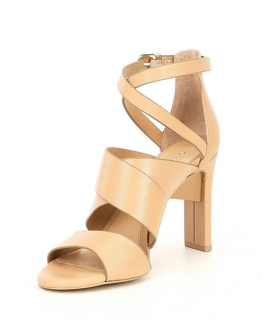 Gianni Bini Neydaa Banded Leather Strappy Dress Sandals KYIKH
