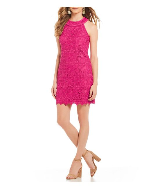 Trina Turk - Pink Deveny Lace Sheath Dress - Lyst