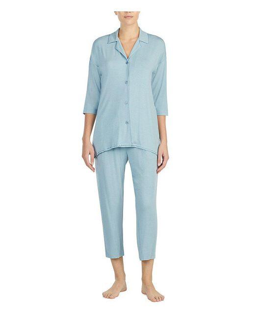 Donna Karan | Blue Jersey Knit Pajamas | Lyst
